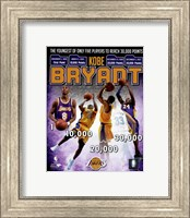 Framed Kobe Bryant Youngest Player in NBA History to reach 30,000 Points