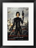 Framed Resident Evil: Retribution