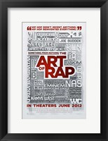Framed Something from Nothing: The Art of Rap