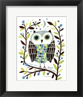 Framed Night Owl I