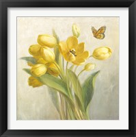 Framed Yellow French Tulips