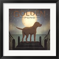 Moonrise Yellow Dog - Golden Pond Framed Print