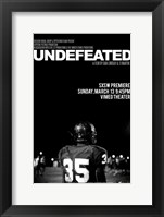 Framed Undefeated - black and white