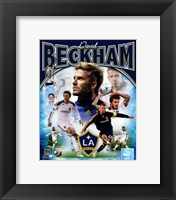 Framed David Beckham 2012 Portrait Plus