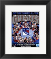 Framed New York Rangers All-Time Greats Composite