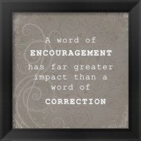 Framed Encouragement Correction