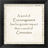 Framed word of Encouragement - square