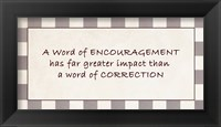 Framed Word of Encouragement Quote