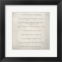 Framed If You Think You are Beaten by Walter D. Wintle