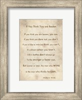 Framed If You Are Beaten by Walter D. Wintle
