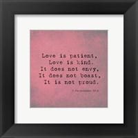 Framed 1 Corinthians 13:4