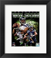 Framed Russell Wilson 2012 Portrait Plus