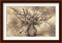 Framed FRESCO FLORAL IV