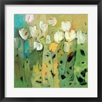 Framed White Tulips II