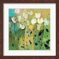 Framed White Tulips II
