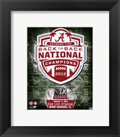 Framed University of Alabama Crimson Tide 2013 BCS Back-To-Back National Champions Team Logo