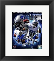 Framed Calvin Johnson Single-Season Receiving Yards Record Portrait Plus