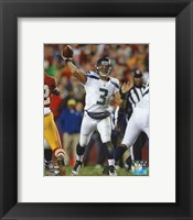 Framed Russell Wilson 2012 Playoff Action