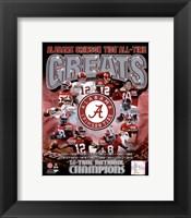 Framed University of Alabama Crimson Tide All Time Greats Composite