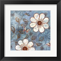 Framed Blue Posies I