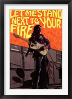 Framed Jimi Hendrix - Next to Your Fi