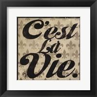 Framed C'est La Vie