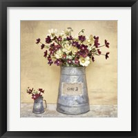 Framed Plum Daisies