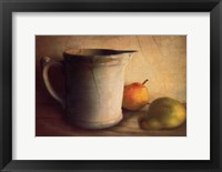 Framed PEARS AND PITCHER