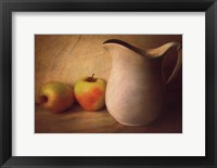 Framed APPLES AND PITCHER