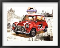 Framed British Car