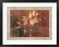 Framed CORAL ORCHIDS I
