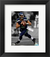 Framed Russell Wilson 2012 Spotlight Action