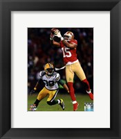 Framed Michael Crabtree 2012 NFC Divisional Playoff Action
