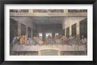 Framed Last Supper, 1498 (post-restoration)