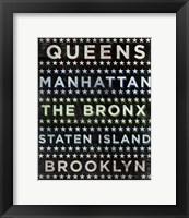 Framed New York Hoods (b/w)