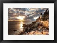 Framed Bass Harbor Lighthouse