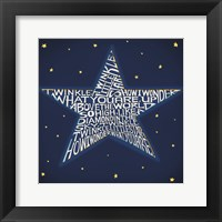 Framed Twinkle, Twinkle Little Star
