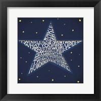 Twinkle, Twinkle Little Star Framed Print
