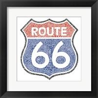 Framed Legendary Route 66