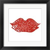 Framed Kiss (on white)