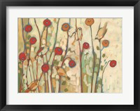 Framed Five Little Birds Playing Amongst the Poppies