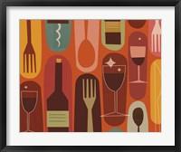 Wine & Dine Framed Print