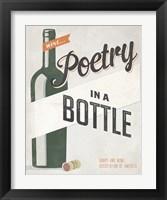 Framed Poetry in a Bottle