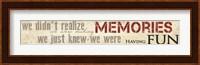 Framed Making Memories