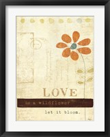 Let Love Bloom Framed Print