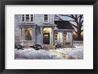 Framed Christmas House