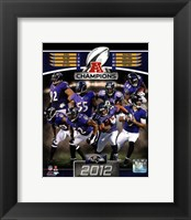 Framed Baltimore Ravens 2012 AFC Champions Composite