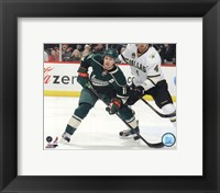 Framed Zach Parise 2012-13 Action