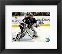 Framed Jonathan Quick 2012-13 Action