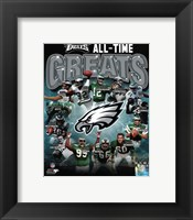 Framed Philadelphia Eagles All Time Greats Composite